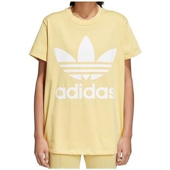 Clothing Women Short-sleeved t-shirts adidas Originals Originals Big Trefoil Beige