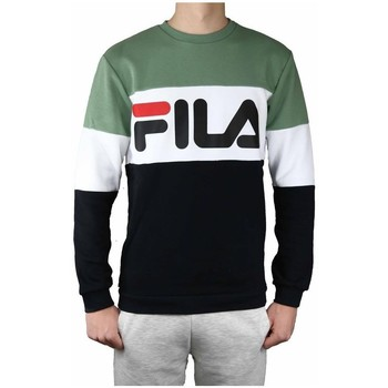 Clothing Men Sweaters Fila Straight Blocked Crew White, Black, Green