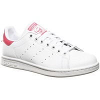 Shoes Girl Low top trainers adidas Originals Stan Smith J White