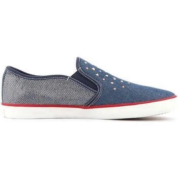 Shoes Children Slip-ons Geox Junior Kiwi Grey,Navy blue