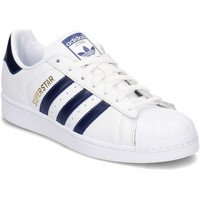 Shoes Men Low top trainers adidas Originals Superstar White,Navy blue