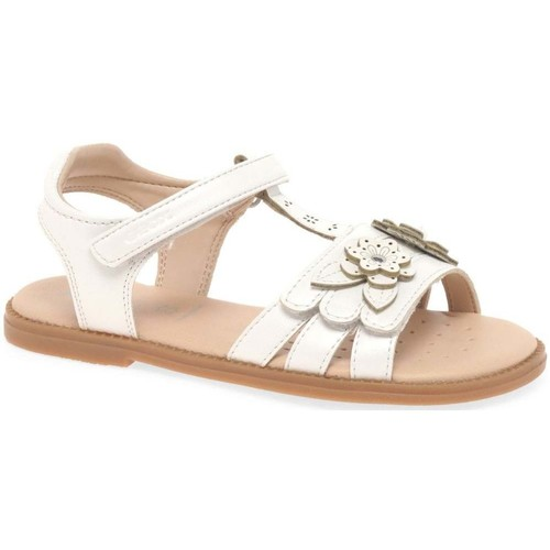 Shoes Girl Sandals Geox Junior Karly T Girls Sandals white