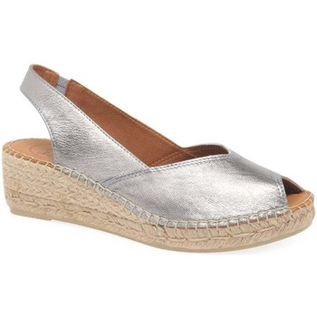 Shoes Women Espadrilles Toni Pons Bernia Womens Wedge Heel Espadrilles Sandals Silver