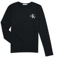 Clothing Boy Long sleeved tee-shirts Calvin Klein Jeans IB0IB00613-BEH Black