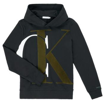 Clothing Boy Sweaters Calvin Klein Jeans IB0IB00628-BEH Black