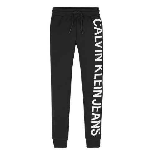 Clothing Boy Tracksuit bottoms Calvin Klein Jeans IB0IB00674-BEH Black