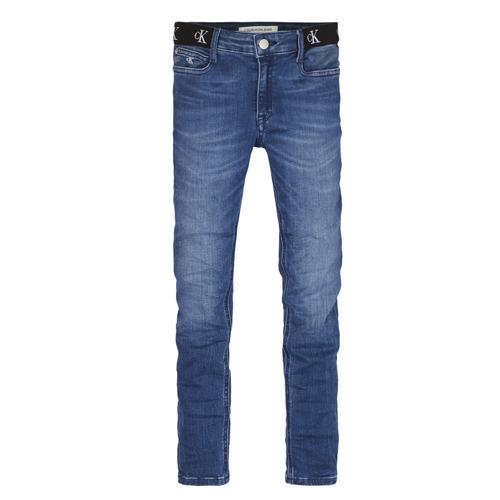 Clothing Girl Skinny jeans Calvin Klein Jeans IG0IG00639-1A4 Blue