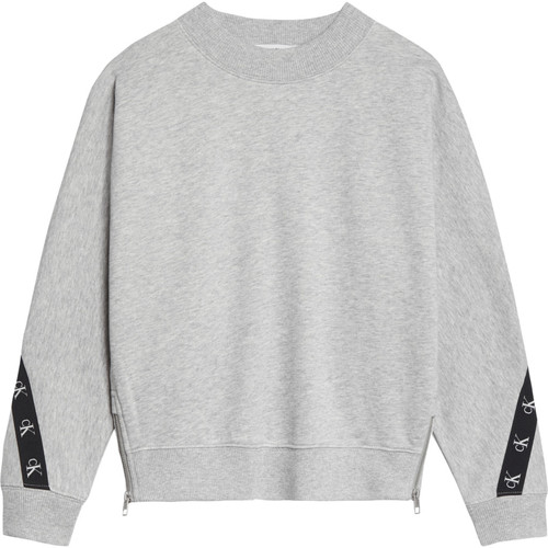 Clothing Girl Sweaters Calvin Klein Jeans IG0IG00687-PZ2 Grey