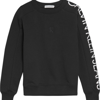 Clothing Girl Sweaters Calvin Klein Jeans IG0IG00691-BEH Black