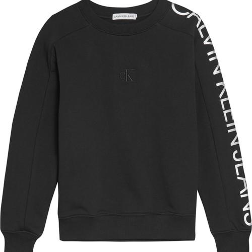 Clothing Girl Sweaters Calvin Klein Jeans IG0IG00691-BEH Black