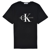 Clothing Children Short-sleeved t-shirts Calvin Klein Jeans MONOGRAM Black