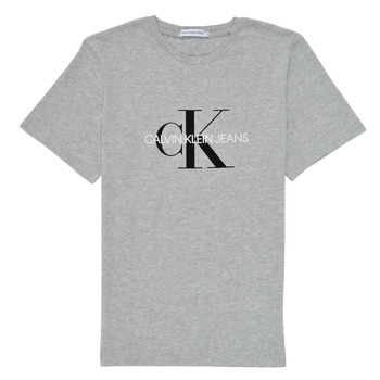Clothing Children Short-sleeved t-shirts Calvin Klein Jeans MONOGRAM Grey