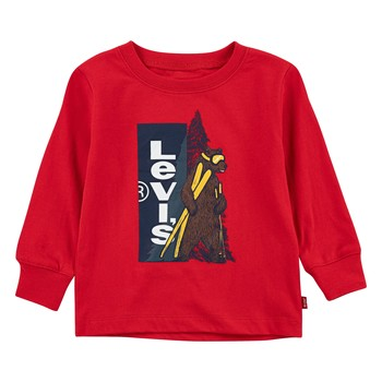 Clothing Boy Long sleeved tee-shirts Levi's GRAPHIC TEE LS Red