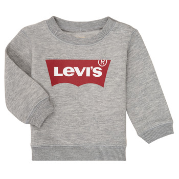 Clothing Boy Sweaters Levi's BATWING CREW Grey