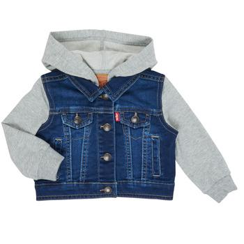 Clothing Boy Denim jackets Levi's INDIGO JACKET Blue