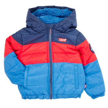 Clothing Boy Duffel coats Levi's COLOR BLOCK PUFFER  Multicolour