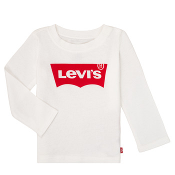Clothing Girl Long sleeved tee-shirts Levi's BATWING TEE LS White