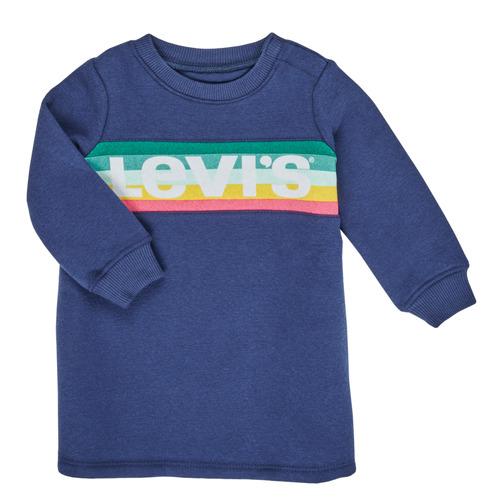 Clothing Girl Short Dresses Levi's SWEATSHIRT DRESS Blue