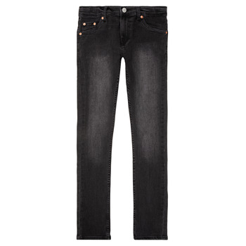 Clothing Boy Skinny jeans Levi's 510 SKINNY FIT JEAN  black / Ice