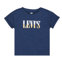 Clothing Girl Short-sleeved t-shirts Levi's DROP SHOULDER TEE Blue