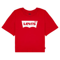 Clothing Girl Short-sleeved t-shirts Levi's LIGHT BRIGHT CROPPED TEE Red