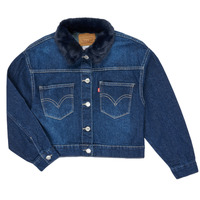 Clothing Girl Denim jackets Levi's OVERSIZED TRUCKER Blue