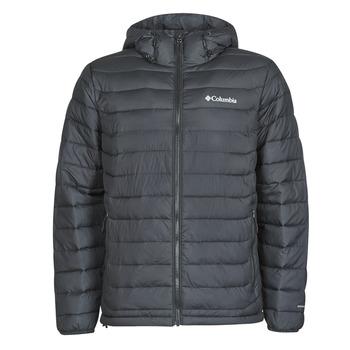Clothing Men Duffel coats Columbia POWDER LITE HOODED JACKET Black