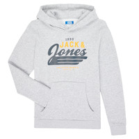 Clothing Boy Sweaters Jack & Jones JJELOGO SWEAT HOOD Grey