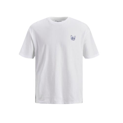 Clothing Boy Short-sleeved t-shirts Jack & Jones JJAARHUS TEE White