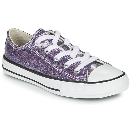 Shoes Girl Low top trainers Converse CHUCK TAYLOR ALL STAR - COATED GLITTER Purple