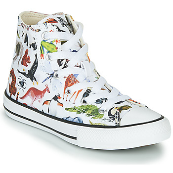 Shoes Children Hi top trainers Converse CHUCK TAYLOR ALL STAR - HI White / Multicolour
