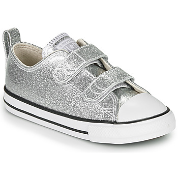 Shoes Girl Low top trainers Converse Chuck Taylor All Star 2V - Coated Glitter Silver