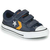 Shoes Boy Low top trainers Converse Star Player 3V - Leather Twist Blue / Mustard