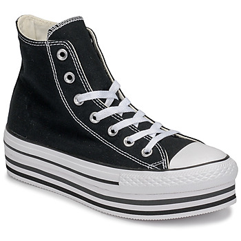 Shoes Women Hi top trainers Converse Chuck Taylor All Star Platform Eva Layer Canvas Hi Black