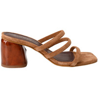 Shoes Women Sandals Alohas INDIANA suede heeled mules Brown