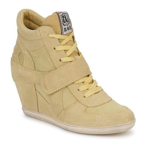 Shoes Women Hi top trainers Ash BOWIE Yellow / Pastel