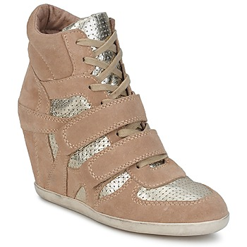 Shoes Women Hi top trainers Ash BEA Beige / Gold
