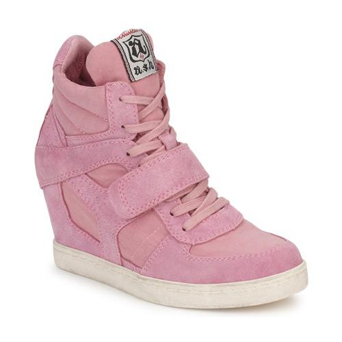 Shoes Women Hi top trainers Ash COOL Pink