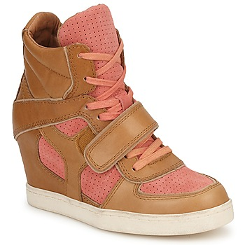 Shoes Women Hi top trainers Ash COCA Brown / Coral