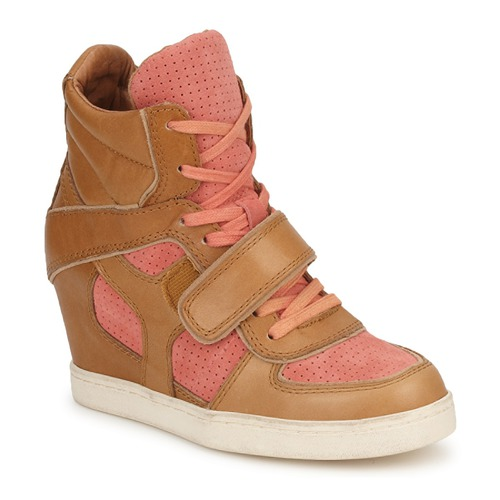 Shoes Women Hi top trainers Ash COCA Brown / Coral