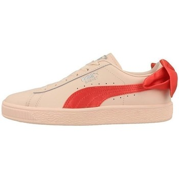 Shoes Children Low top trainers Puma Basket Bow JR Orange