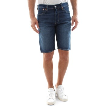 Clothing Men Shorts / Bermudas Levi's 36512 0092 - 501 HEMMED SHORT DENIM DARK BLUE