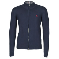 Clothing Men Jackets / Cardigans U.S Polo Assn. INSTITUTIONAL ZIP KNIT Blue