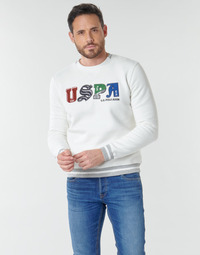 Clothing Men Sweaters U.S Polo Assn. ANSON FLEECE White