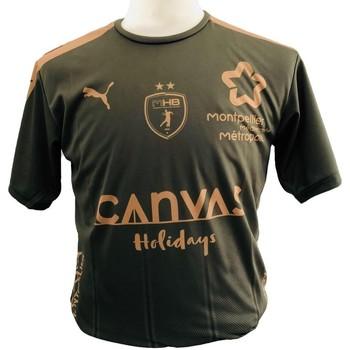 Clothing Boy T-shirts & Polo shirts Puma Maillot enfant Third MHB 2018/2019 vert kaki/marron clair/vert kaki