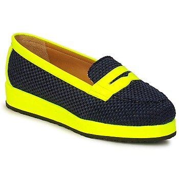 Shoes Women Loafers MySuelly VALENTINE Black / Yellow