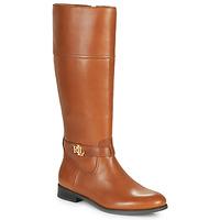 Shoes Women High boots Lauren Ralph Lauren BAYLEE Cognac