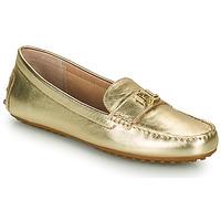 Shoes Women Loafers Lauren Ralph Lauren BARNSBURY FLATS CASUAL Gold