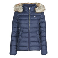 Clothing Women Duffel coats Tommy Jeans TJW BASIC HOODED DOWN JACKET Marine