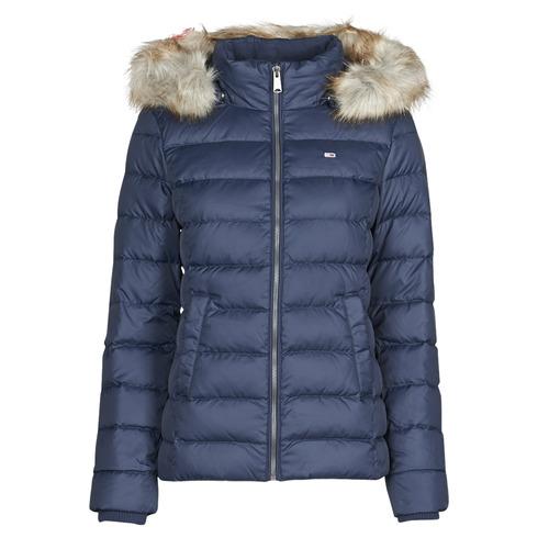 Clothing Women Duffel coats Tommy Jeans TJW BASIC HOODED DOWN JACKET Marine